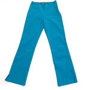 vtg womans trousers S XS 24 teal blue boot cut